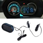 Car LED Backlight Digital Display 2 Thermometer Voltmeter Alarm Clock Date SO