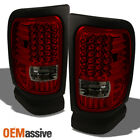 Fits 94-01 Dodge Ram Pickup Truck Red Smoke LED Tail Lights Lamp Pair Left+Right