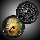 New Wall Clock Black Decor Wheel of The Year