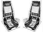 Chevelle GTO Skylark 442 Cutlass Lemans Bucket Seat Assemblies