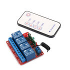 12V Four Channel 4CH RF Wireless Remote Control Switch Relay Module 433MHz