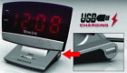 Westclox 71014X Plasma Screen Alarm Clock, With USB Charging Port, 0.9 in Digita