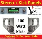 1960-63 Chevy Truck Radio & Kicks w Speakers for Stereo Radio 630