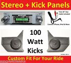67-68 Mustang Convertible Radio & Kicks w Speakers fpr Stereo Radio 630 No A/C