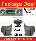 66-67 Nova Chevy II Radio & Kicks w/ Speakers + Dash Speaker Stereo 630 No A/C