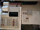 Vintage TI-5130 Printing Desk Calculator w/box, manual, cover ca 1981-84