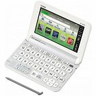 New Casio Electronic Dictionary EX-word XD-Y4900WE White Learn Japanese Japan