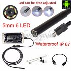 5.5mm Android 1m 2m 3.5m 5m Endoscope Waterproof Borescope USB Inspection Camera