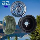 """GOLF CART 10"""" STEEL WHEELS/RIMS, 205/65-10 DOT Tires & Medusa Wheel Covers"""