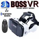 100% Real VR BOSS BOX 3D Glasses Headphone Speaker & Remote for iOS/Android US