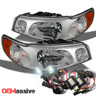 98-02 Lincoln Town Car  Replacement Clear Headlights +Slim Ballast 6000K HID Kit