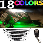 16pc Wireless Remote 18 Color Changing Snowmobile Led Neon Glow Lighting Kit