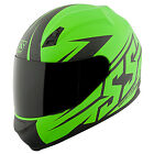 Speed and Strength SS700 Hammer Down Matte Green Full Face Helmet Clear Shield