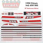 1990 Polaris 650 SKS Indy Graphics Reproduction 24 Piece Decal Snowmobile Kit