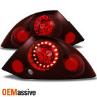 Fit 00-02 Eclipse Red Lens Rear Led Ring Tail Lights Brake Lamps Replacement