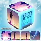 Four Sides Different Picture Alarm Clock Cartoon Bedside Change Color Cosplay