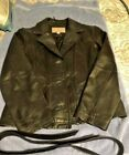 Wilson leather ladies button up jacket size large with zip out thinsulate  liner