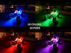 Wireless 18 Color Changing Artic Cat ATV UTV Quad 4 Wheeler 10 Pod Led Glow Kit