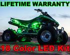 18Color Changing Led Brute Force 750 ATV UTV Quad 4Wheeler 10 Pod Glow Light Kit