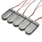 5 Pcs CR2032 3V Button Coin Cell Battery Holder Case Box With On-Off Switch ST