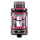 Skin Decal for Smok Mini TFV8 Big Baby Beast Tank Vape Mod / Pink Aztec indian