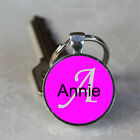 Handmade Annie Name Monogram Glass Dome Keychain (GDNKC0083)