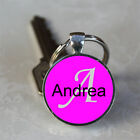 Handmade Andrea Name Monogram Glass Dome Keychain (GDNKC0068)
