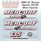 07-10 Mercury Optimax Globe 135HP Direct Injection Outboard Repro 7 Pc  Decals