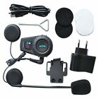 500M BT Bluetooth FM Radio Motorcycle Helmet Intercom Interphone Headset MU