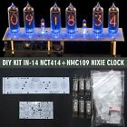 Nixie Tubes Clock IN-14 DIY KIT Musical USB RGB PCBs+ALL Parts WITH TUBES