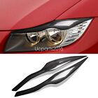 HeadLight Lamp Eyebrow Eyelid Trim Carbon Fiber 2* For BMW 3 series E90 2006-11