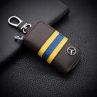 High-grade leather Car Remote Key Chain Holder Case Bag Fit For Mercedes-Benz