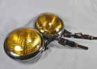 Vintage 1920s - 1940s fog lights pair with bumper-mount brackets, very very nice