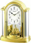 SEIKO CLOCK Table clock Analog rotation decorative golden color BY418G