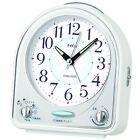 SEIKO CLOCK Alarm clock Analog 31 tune melody alarm PYXIS White NR435W