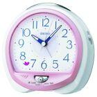 SEIKO CLOCK Alarm clock Nature sound analog switching alarm Pink QM745P