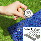 Outdoor Patio Rug Stakes Camping Mat Tent Stakes Pack of 6 Camper Trailer RV New
