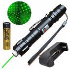 Powerful 532nm Green Laser Pointer Pen Lazer Beam Light + Battery + Charger