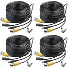 Masione 4 PACK 150ft Video Power Security Camera Extension Cable Wire for... NEW