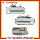 Right Inner Brown + 2 Front Outside White 040 Door Handle For 92-96 Camry DS441
