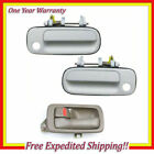 Left Inner Brown + 2 Front Outside White 040 Door Handle For 92-96 Camry DS440