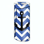 Skin Decal for Smok Priv V8 60w Vape / Blue Chevron Black Anchor