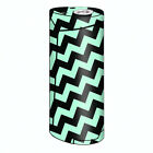 Skin Decal for Smok Priv V8 60w Vape / Teal and Black Chevron