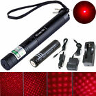 Powerful Beam 303 Red Military 5mw 650nm Laser pen + 18650 Battery + Car charger