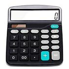Everplus Calculator Electronic Desktop with 12 Digit Large Black Ergonomic New