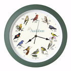 "Clock-Audubon Singing Birds w/Light Sensor (13"" Diameter) (01-MAR-18=PUB O/S)"