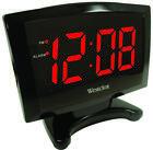 Westclox 70028 Plasma Alarm Clock, 1.8 in Digital, Red? LED Display