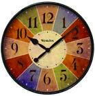 Westclox 32897 Casual Wall Clock, Analog Display, Round, 12 in, Multi-Colored