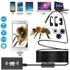1-10M 8mm Wireless Endoscope WiFi HD 1200P Hard Cable 8LED for IOS Android NL