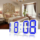 3D LED Digital Display Alarm Wall Clock 3 Levels Dimmable Nightlight Snooze